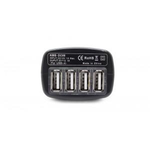 4-Port USB Car Cigarette Lighter Power Adapter Charger