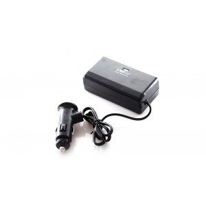 2-Socket Car Cigarette Power Splitter with 2 * 500mA USB Ports