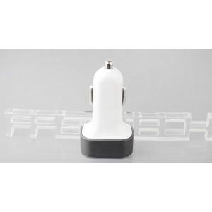 5.1A 3-Port USB Car Cigarette Lighter Charger Adapter (Random Colors)
