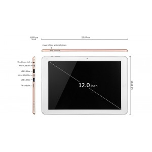"CHUWI Hi12 12"" IPS Quad-Core Windows 10 Tablet PC (64GB)"