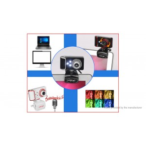 HXSJ S10 Clip-On USB HD Webcam Camera for Android TV/PC