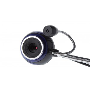 Suction Cup 10MP CMOS Webcam w/ Built-in Microphone
