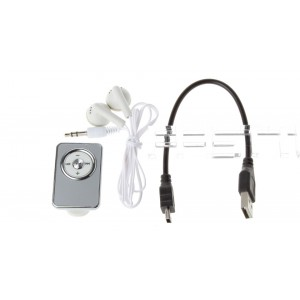 3.5mm Clip-on microSD Card Rechargeable MP3 Player