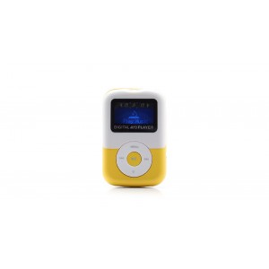 """1"""" OLED Screen MP3 Music Player with TF Card Slot / Speaker (Yellow)"""