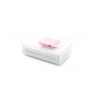 Clip Design Mini MP3 Music Player with TF Card Slot (Pink)