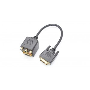 DVI 24+5 to VGA + 3RCA Female Adapter Cable