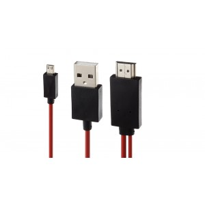 1080p MHL Micro-USB/USB 2.0 to HDMI Converter Cable (200cm)