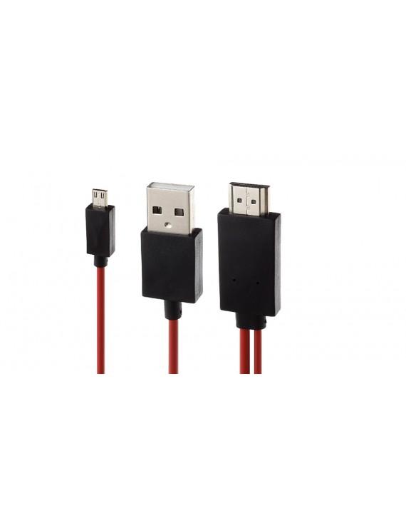 1080p MHL Micro-USB/USB 2.0 to HDMI Converter Cable (200cm)
